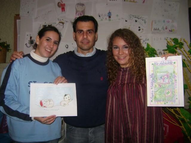 Entrega de premios taller de Navidad postales navideñas Carolinas Altas