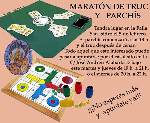 MARATÓN DE TRUC Y PARCHÍS en la Falla San Isidro