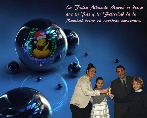 Feliz Navidad - Falla Albacete - Marvá