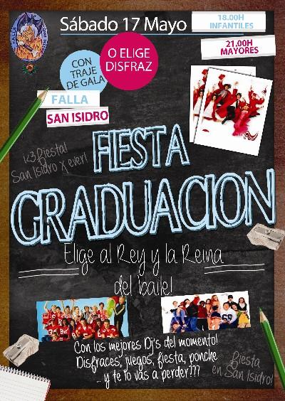 Cartel Fiesta Graduación
